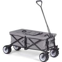 Foldbar Trækvogn med køleboks og overtræk - grå