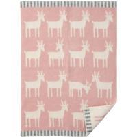 Klippan Yllefabrik Ekologisk ullfilt Deer, flera färger Rosa Klippan Yllefabrik