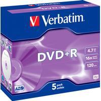 Verbatim DVD+R 4.7GB 16x Jewelcase 5-Pack