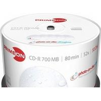 Primeon CD-R Extra Protection 700MB 52x Spindle 50-Pack Inkjet