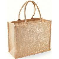 Westford Mill Metallic Shimmer Jute Shopper/Tote Bag