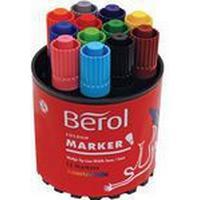 Berol Fiberpenna Color Marker 12-pack