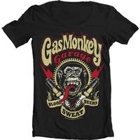 Gas Monkey Garage - Spark Plugs Wide Neck Tee Black XX-Large