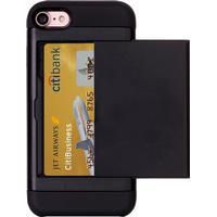 Smart kortplats TPU-Skal till iPhone 7/8 - Svart