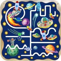 Anatex Aktivitetstavla med rymdtema