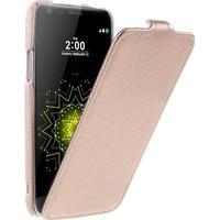 Litchi Vertical Flip läderfodral till LG G5 / G5 SE - Rosé guld