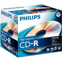 Philips CD-R 800MB 52x Jewelcase 10-Pack