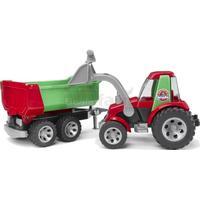 Bruder Roadmax Traktor m Skovl og Anhænger 20116