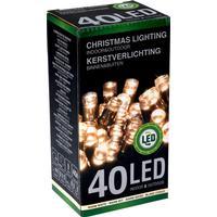 LED lyskæder udendørs - Varm hvid, 40 lys, 6 m