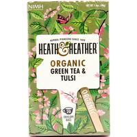 Heath & Heather Organic Green Tea & Tulsi 20 Teabags