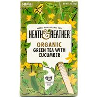 Heath & Heather Organic Green Tea with Cucumber 20 Teabags