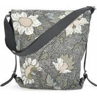 Ceannis Shoulder Bag Flower Linen - Black (013019903)