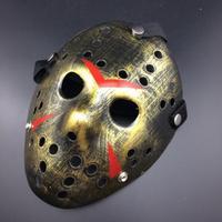 Friday The 13th Jason Mask för Halloween och party - Guld