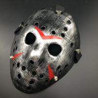 Friday The 13th Jason Mask för Halloween och party - Silver