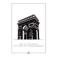 Sverigemotiv Arc De Triomphe Paris 50x70cm Plakater