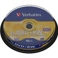 Verbatim DVD+RW 4.7GB 4x Spindle 10-Pack