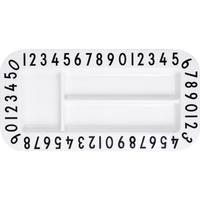 Design Letters Melamine Rectangular Snackplate