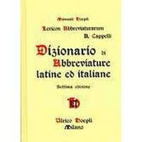 Lexicon Abbreviaturarum  Dizionario Di Abbreviature Latine Ed Italiane  (Inbunden 4e9a91d13b85