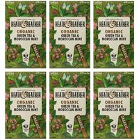 Heath & Heather Organic Green Tea with Moroccan Mint 20 Teabags 6-pack