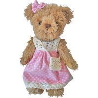 Powell Craft Girl Bear in Pink Dress