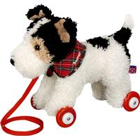 Spiegelburg Foxterrier Boomer on Wooden Wheels Funny Animal Parade