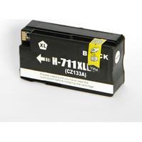HP 711 XL BK (CZ129A) med chip (80 ml) Svart kompatibel Bläckpatron