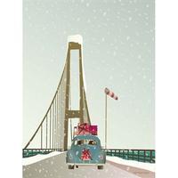 Vissevasse Driving Home For Christmas 50x70cm Plakater