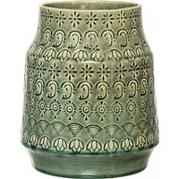 Bloomingville Vas, Grön, Stengods
