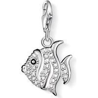 Thomas Sabo Charm Club Fisk - Silver & Vit Zirkonia