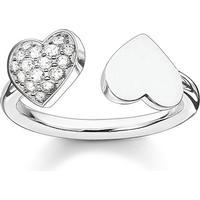 Thomas Sabo Glam & Soul Ring Hjärtan 54 - Silver