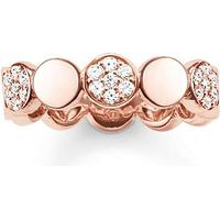Thomas Sabo Glam & Soul Sparkling Circles - Rose Gold Plated Ring (TR2048-416-14-56)