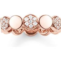Thomas Sabo Glam & Soul Silver Rose Gold Plated Ring w. white Cubic Zirconium - 1.73cm (TR2048-416-14-54)