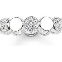 Thomas Sabo Glam & Soul Ring Sparkling Circles - Silver