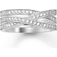 Thomas Sabo Glam & Soul Ring Vit Zirconia - Silver