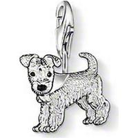 Thomas Sabo I Love My Pets - Silver Berlock Hund - Svart Emalj