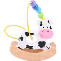 Bigjigs Rocking Bead Frame Cow