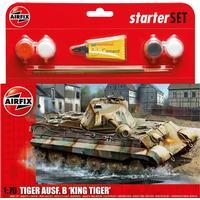Airfix PZKW VI Ausf B King Tiger Tank Starter Set A55303