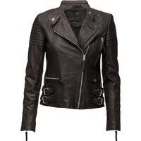 Munderingskompagniet City Biker Leather Jacket - Black (K109)