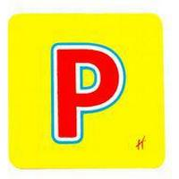Hama Wooden Letter P