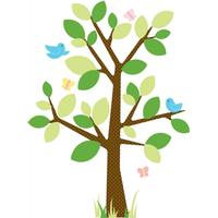 RoomMates Väggdekor Stort Prickigt Träd