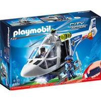 Playmobil Police Helicopter with LED Searchlight 6874