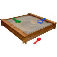 vidaXL Square Wooden Sandpit