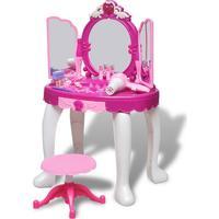vidaXL Sminkbord 3 Speglar Barn med Ljus/Ljud