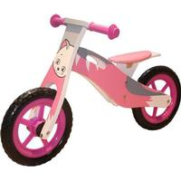 Megaleg Learner Bike Cat in Wood with Right Air Wheels