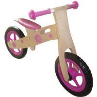 Megaleg Træ Pige Løbecykel med Rigtige hjul med luft