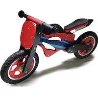 Megaleg Running Motorcycle in Wood with Right Air Wheels