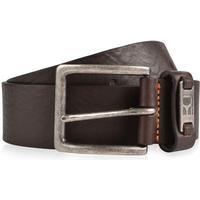 Hugo Boss Branded Metal Loop Leather Belt Dark Brown
