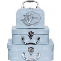Bloomingville Mini Legetøjs kuffert, Blå, Papir