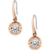 Michael Kors Brilliance Stainless Steel Rose Gold Plated Earrings w. Transpaernt Cubic Zirconium (MKJ5339791)
