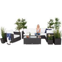 Comfort Garden Loungegrupp Denver Konstrotting Svart 3 -